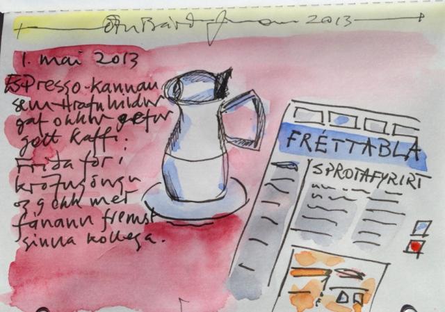 kaffi 1. mai - myndblogg