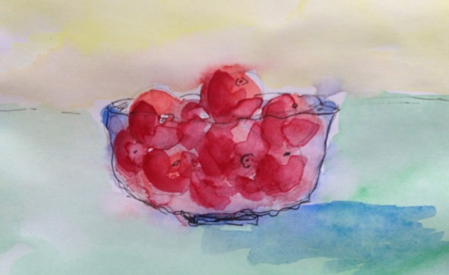 Tómatar í glerskál - Tomatos in a glassbowl